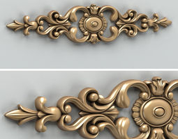 Carved decor horizontal decoration 3d