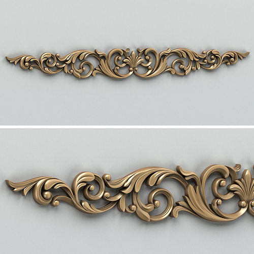 carved decor horizontal 007 3d model max obj fbx stl 1