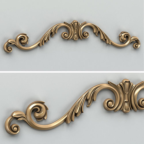 carved decor horizontal 008 3d model max obj fbx stl 1