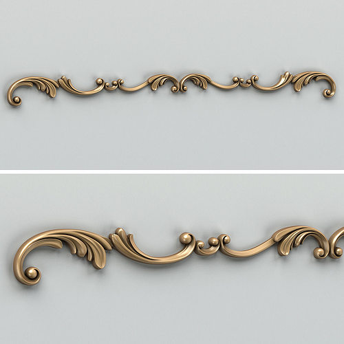 carved decor horizontal 009 3d model max obj mtl fbx stl 1