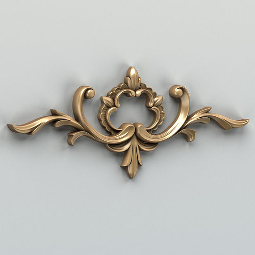 carved decor horizontal 012 3d model max obj fbx stl 1