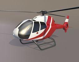 eurocopter colibri ec-120b civil helicopter 3d model obj 3ds fbx lwo lw lws blend dae