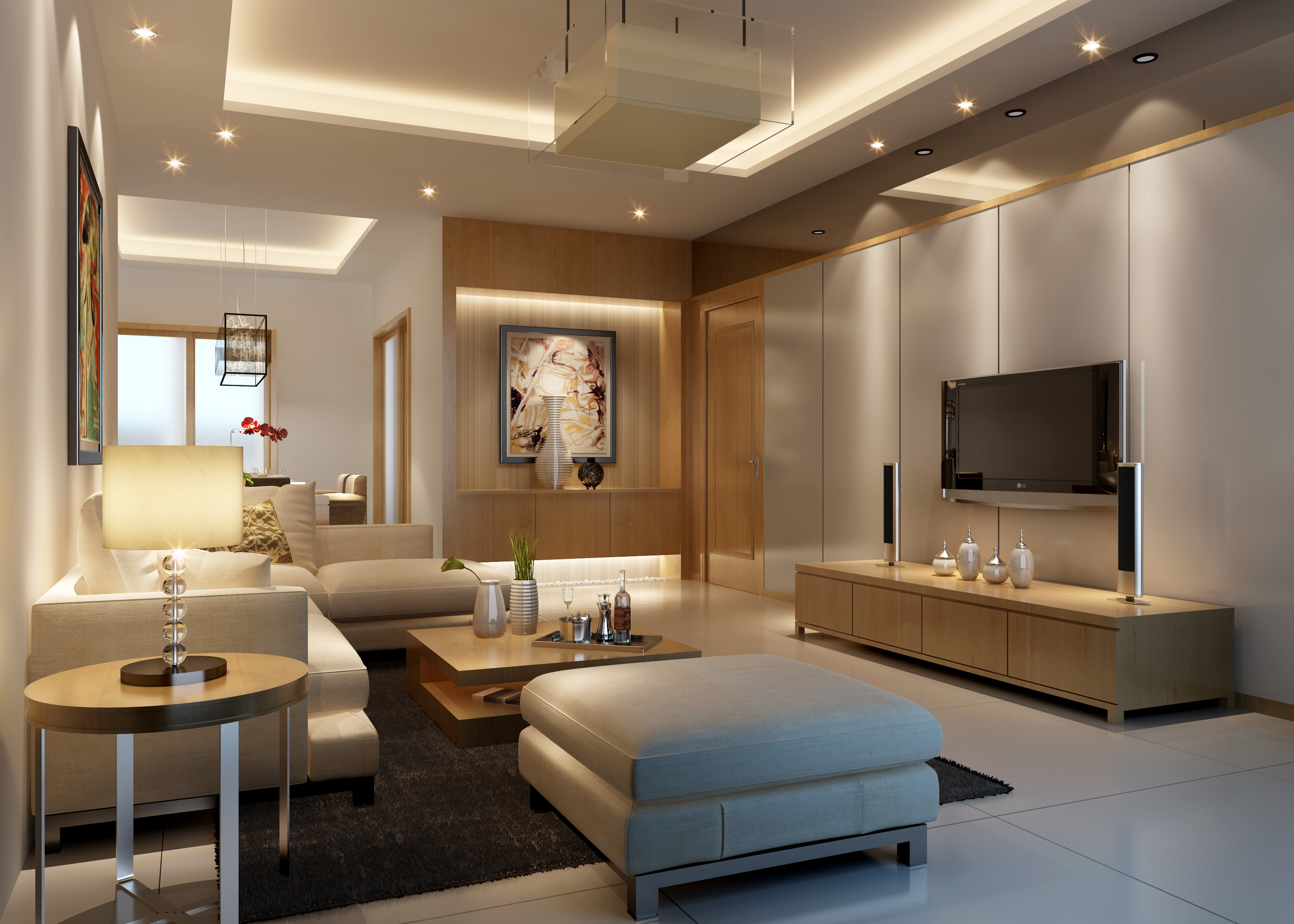 Superb Living Room 3d Model Max 1