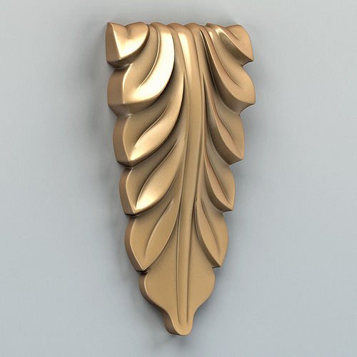 carved decor vertical 005 3d model max obj mtl fbx stl 1