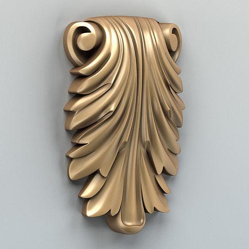 carved decor vertical 007 3d model max obj fbx stl 1