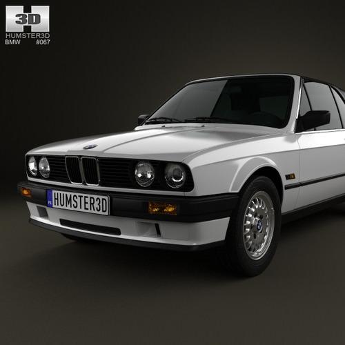 BMW 3 Series Convertible E30 1990 3D Model MAX OBJ 3DS FBX