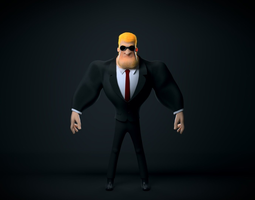 Blond Bouncer 3D