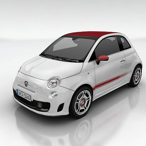 Fiat Abarth D Model Low Poly Max on 2012 Fiat 500 Abarth Engine