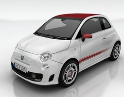 fiat 500 abarth 3d model low-poly max