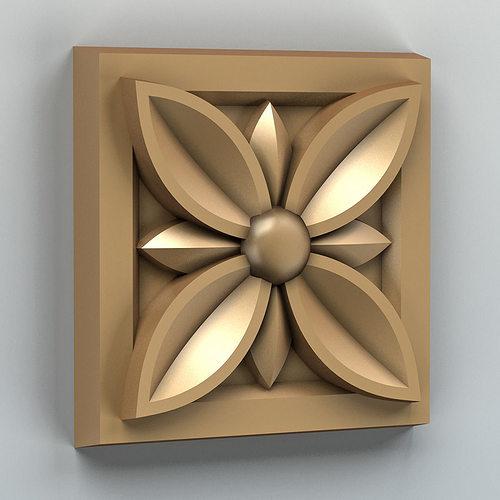 square rosette 002 3d model max obj stl 1