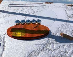 3D A different Newtons pendulum