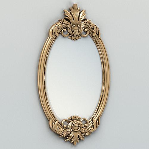 oval mirror frame 002 3d model max obj fbx stl 1