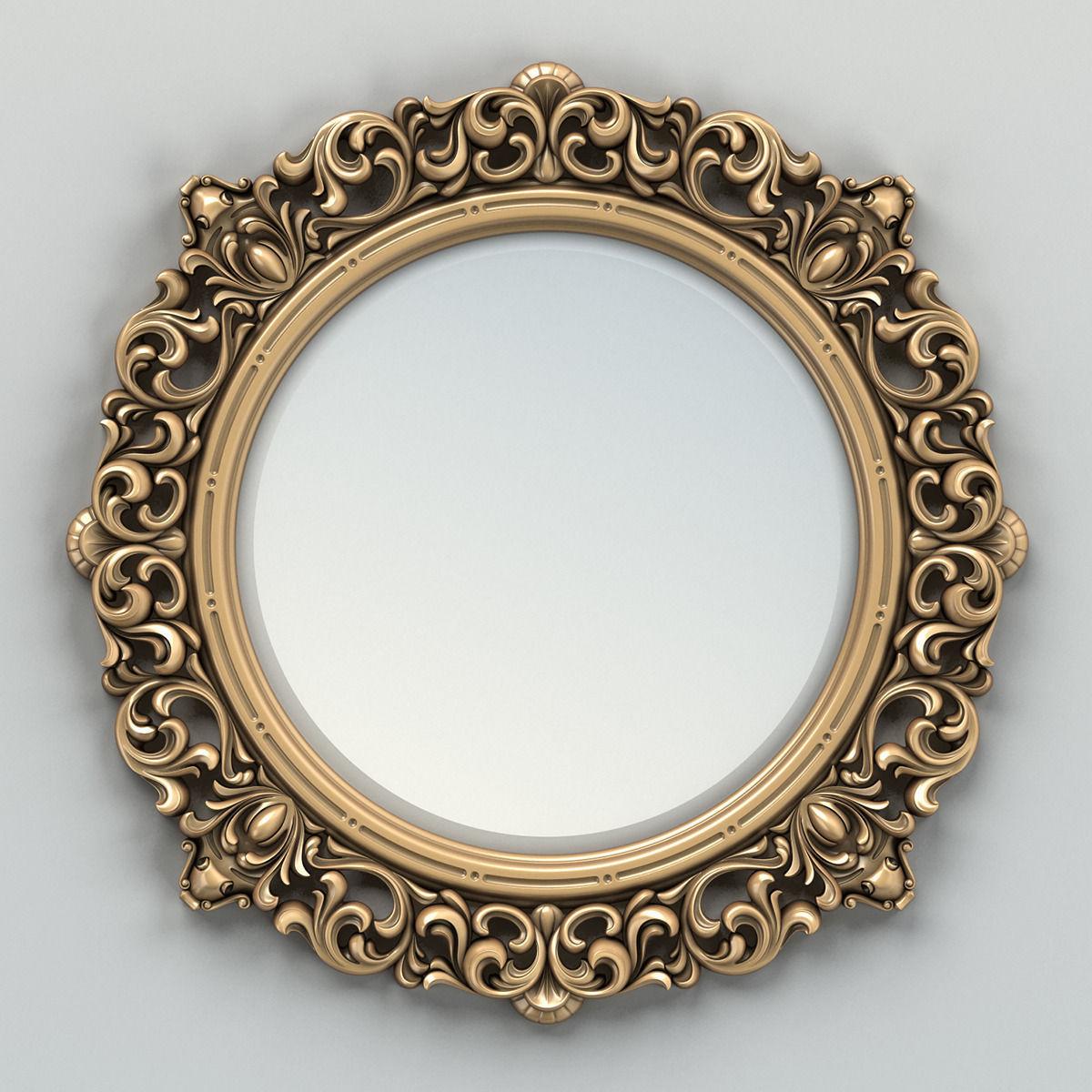Round mirror frame 001 3d model max obj fbx stl for Mirror frame