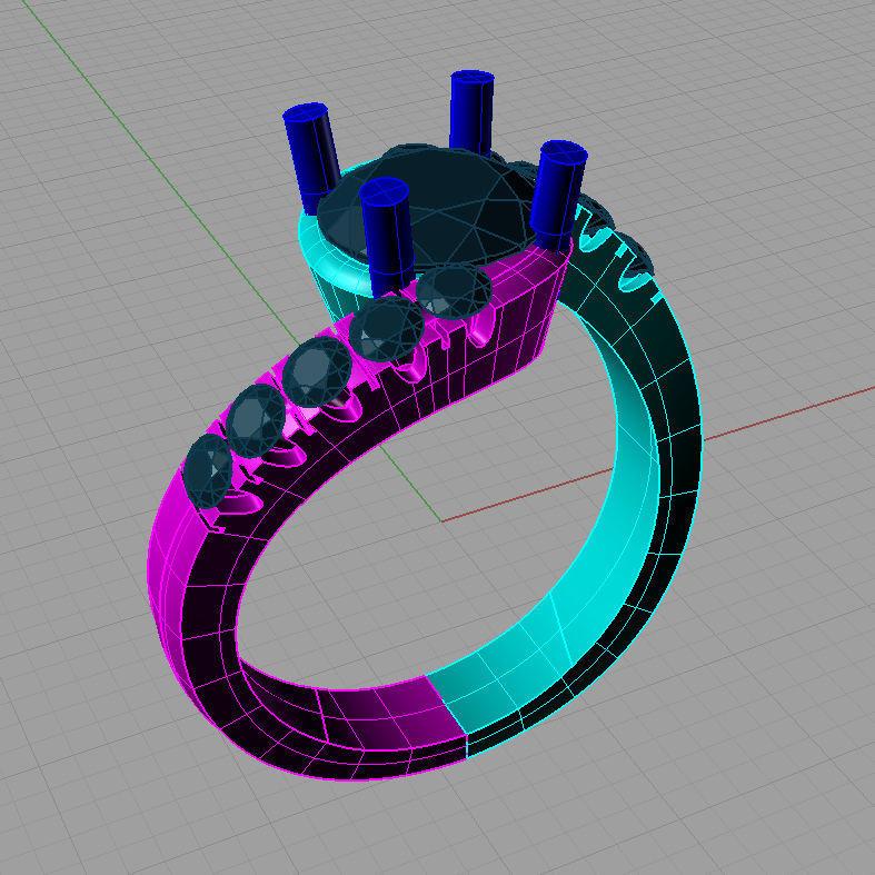Solitaire Round diamond Cut Ring Anello solitario Sl13