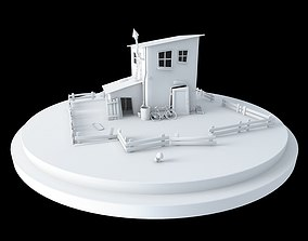 funny Old House 3D model