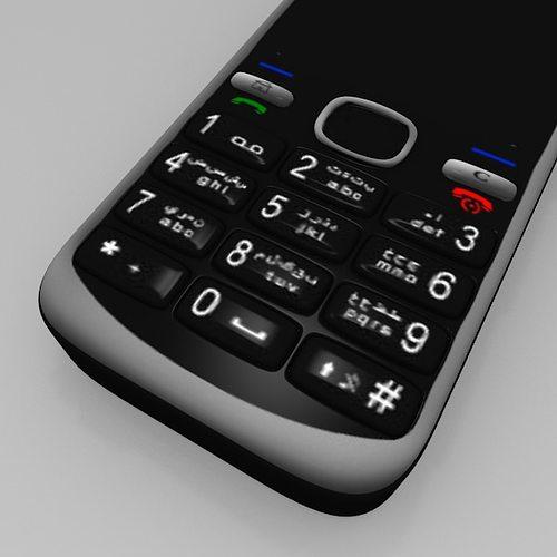 Nokia C5 Mobile free VR / AR / low-poly 3D Model OBJ 3DS ...