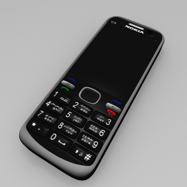 3D model Nokia C5 Mobile VR / AR / low-poly OBJ 3DS FBX ...