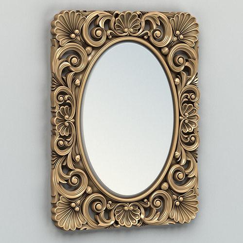rectangle mirror frame 005 3d model max obj mtl fbx stl 1
