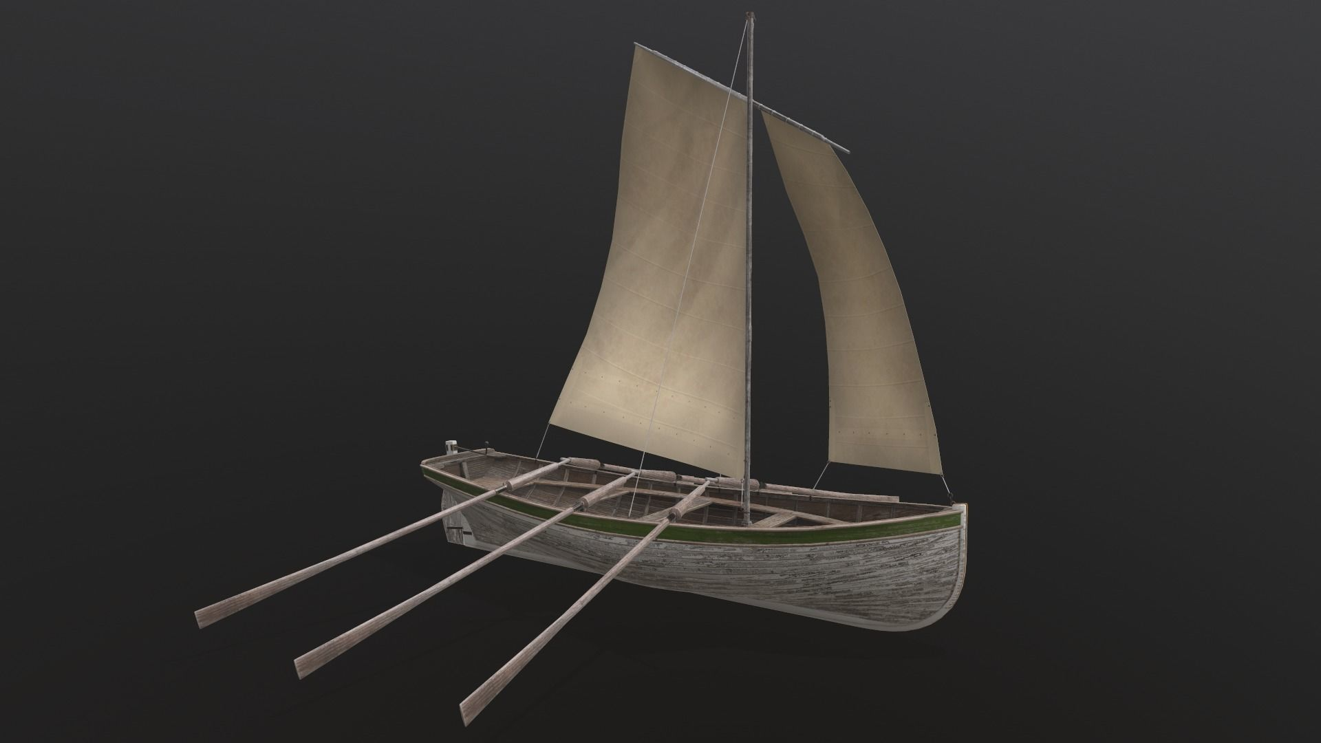 Old wooden boat Yal-6