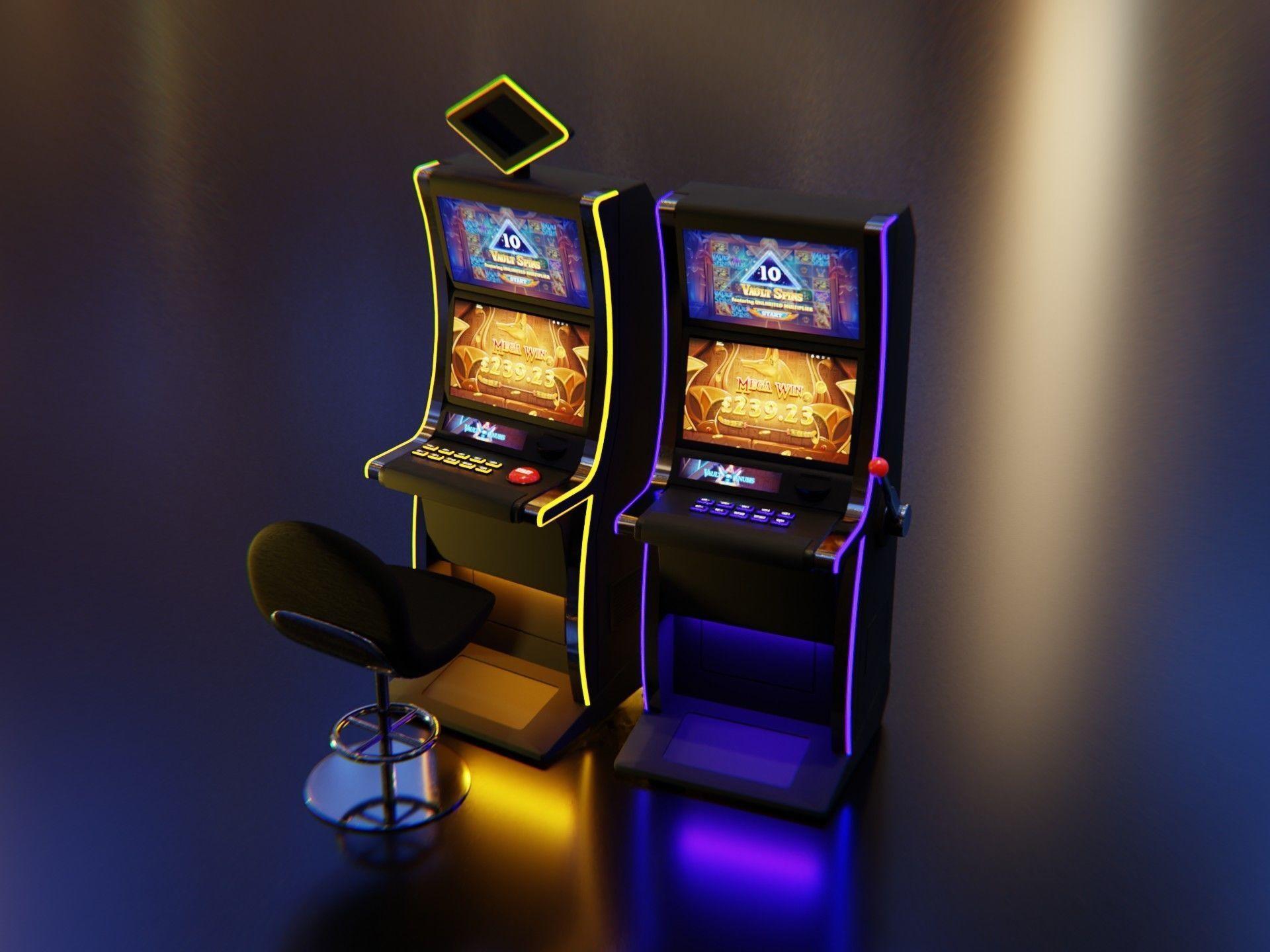 Slot Machines with Casino chair