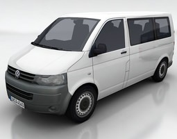 vw transporter 5a 3d model low-poly max