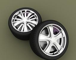 3D model Car rotating rim