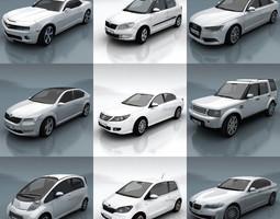 10 - City cars models F 3D Model