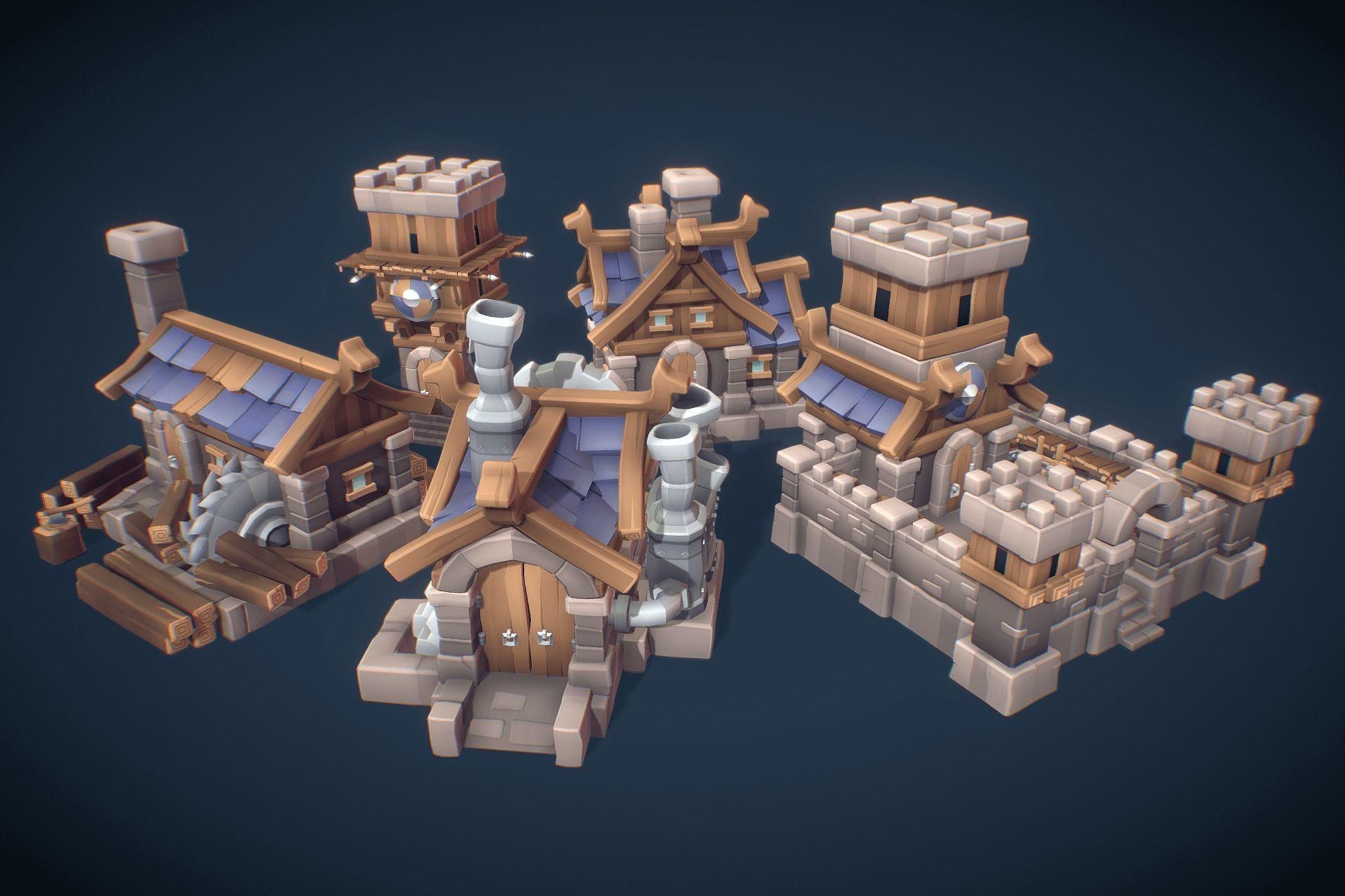 Human RTS Building Set - Proto Series
