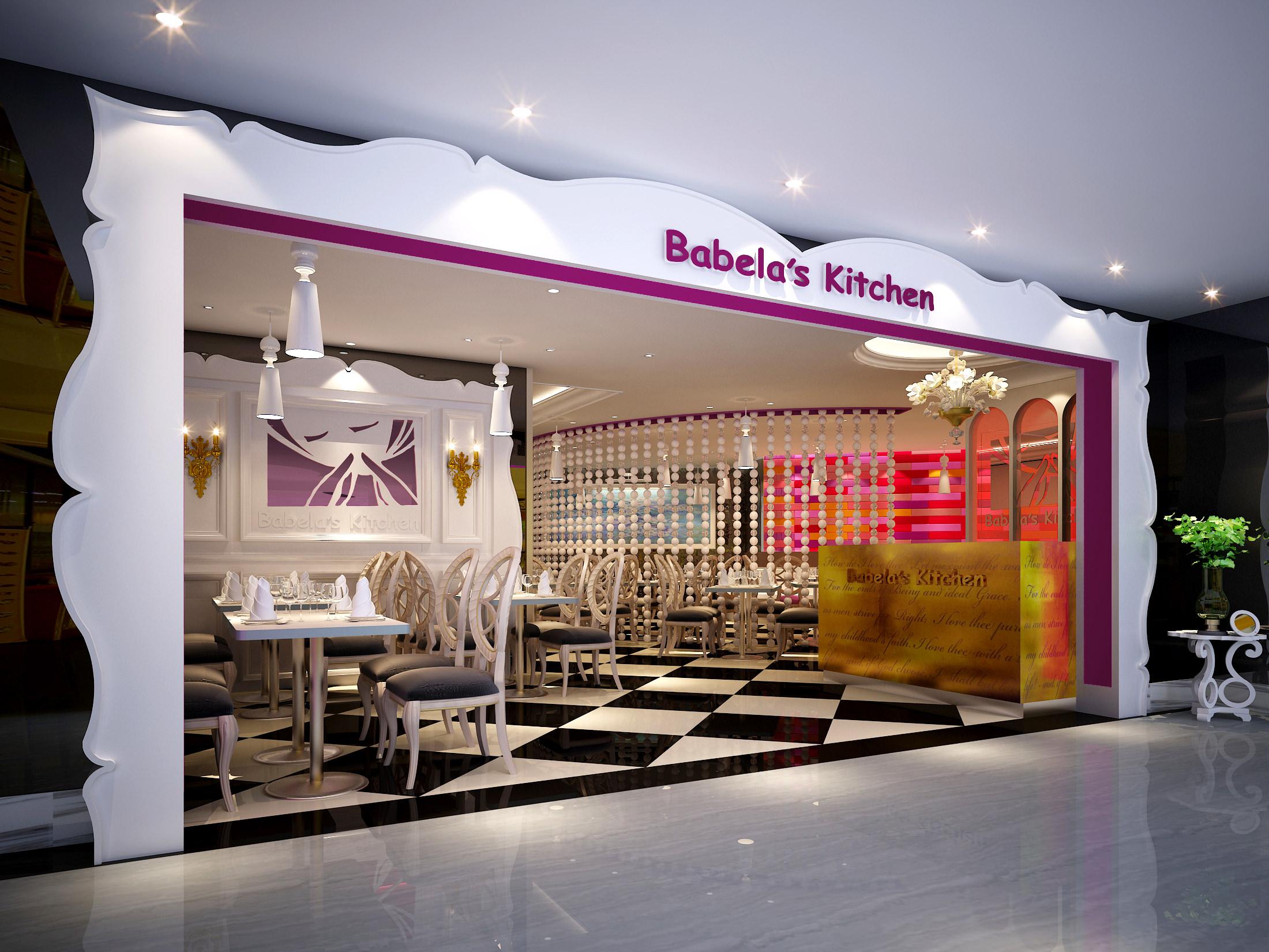 Restaurant Kitchen 3d Model 3d cafe restaurant | cgtrader