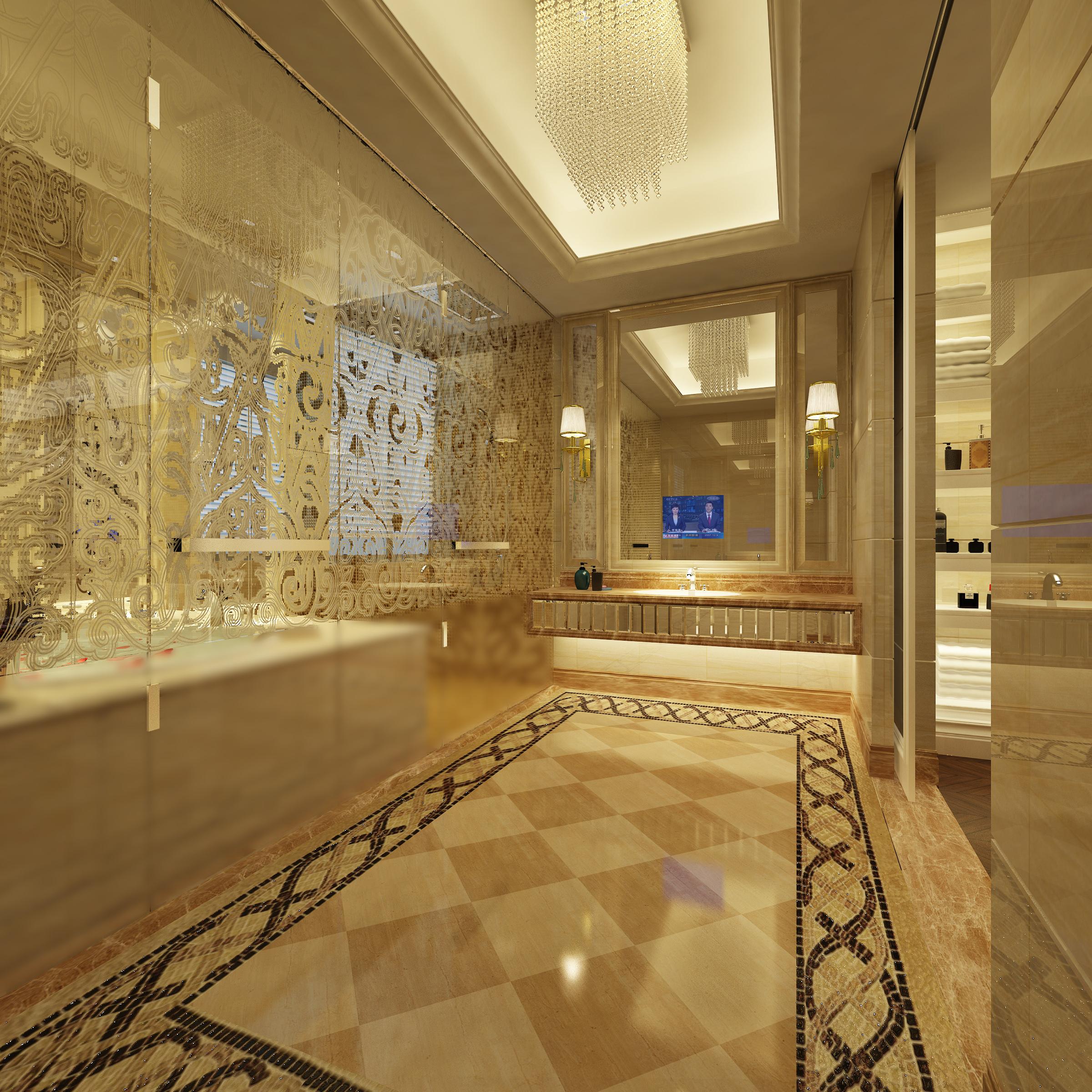 ... Luxury Bathroom 3d Model Max Dwg 3