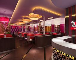 3d restaurant bar