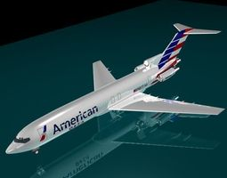 3d model american airlines 727