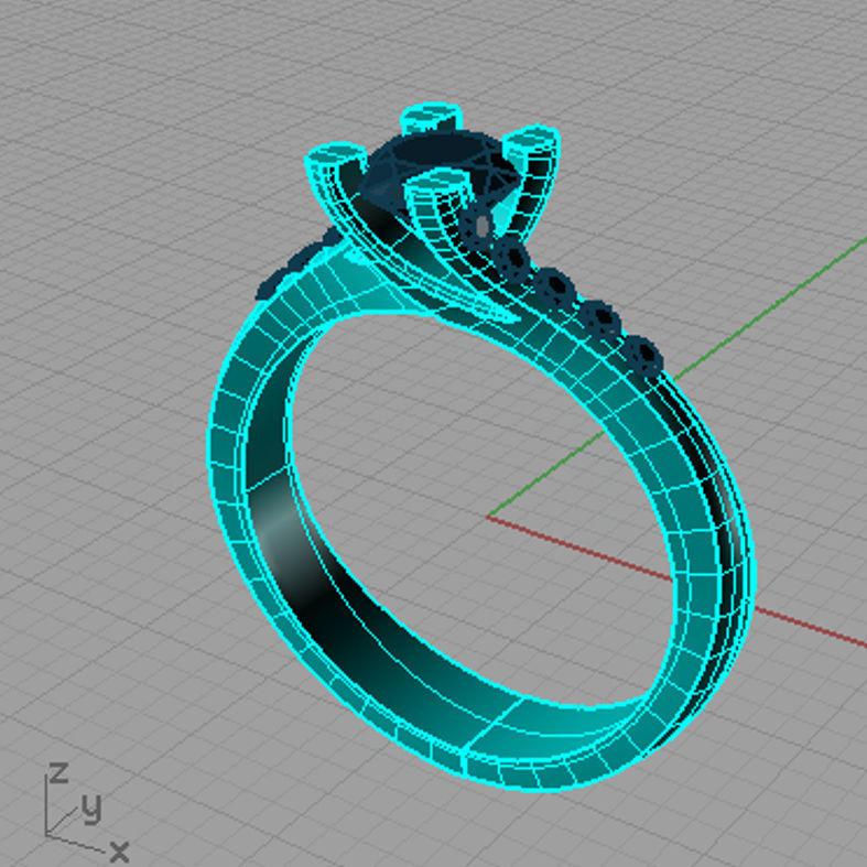 Solitaire  Round diamond Anello solitario Sl66