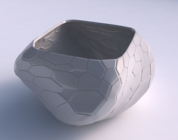 bowl helixwith organic cells with organic cells 3d printable model