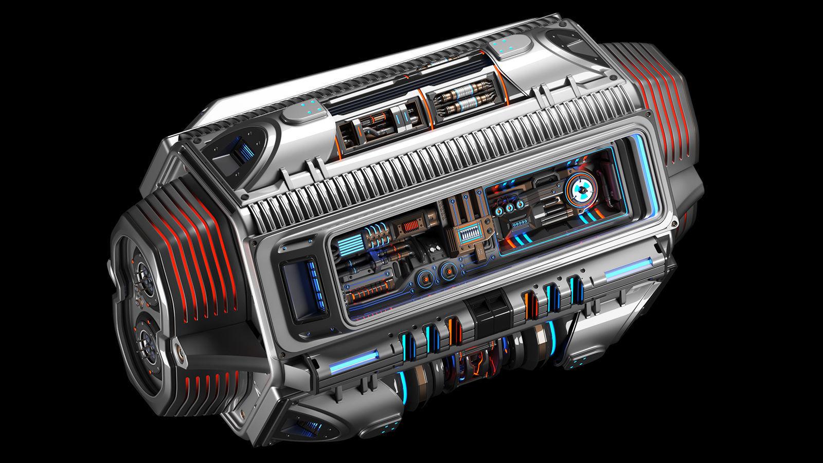 Sci Fi Mega Engine KITBASH