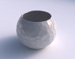 Bowl spheric with organic cells 3D printable model