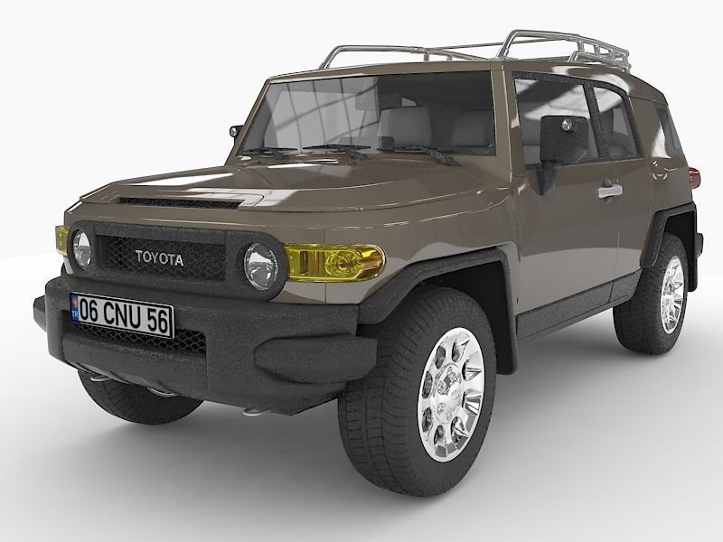 360 view of Toyota FJ Cruiser with HQ interior 2010 3D