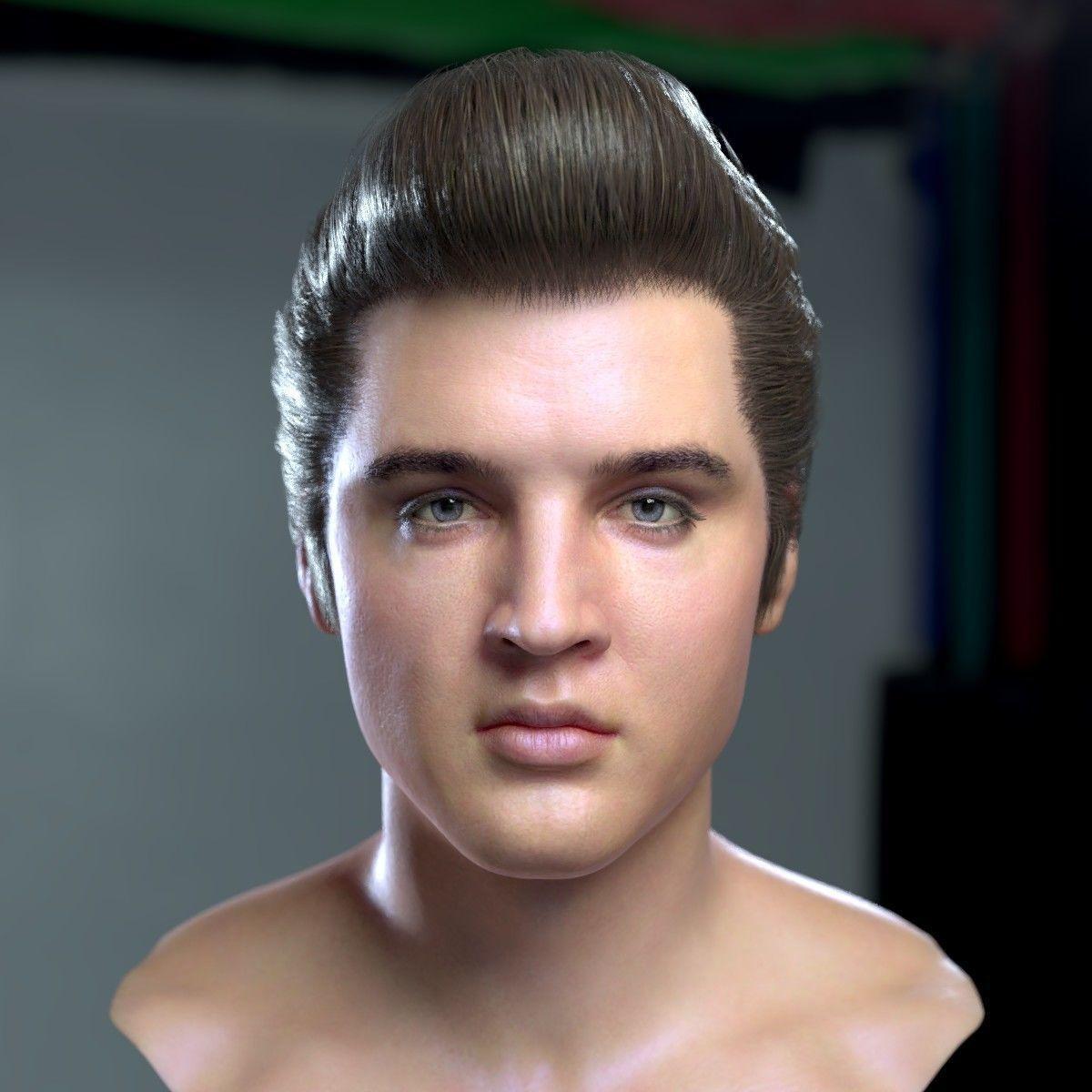 3d model Elvis Presley head