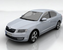 skoda octavia 3 liftback VR / AR ready 3d model