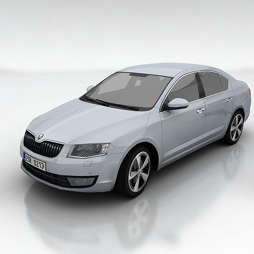 skoda octavia 3 liftback 3d model low-poly max fbx 1
