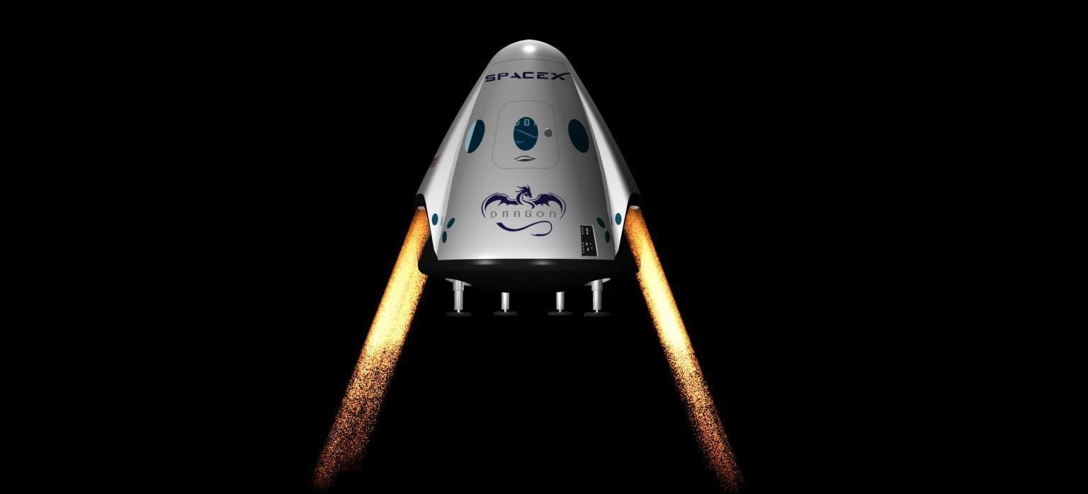 DRAGON V2 SPACE CAPSULE  ANIMATED