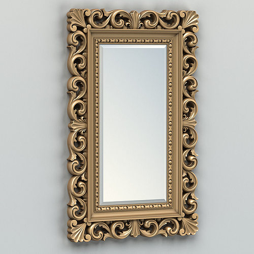 rectangle mirror frame 010 3d model max obj mtl fbx stl 1