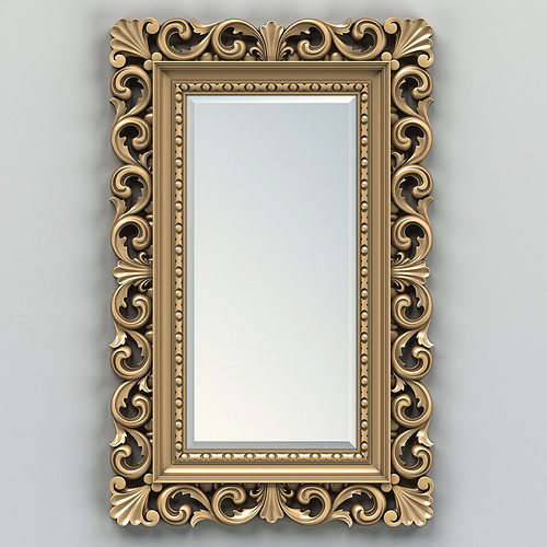 rectangle mirror frame. Perfect Frame Rectangle Mirror Frame 010 3d Model Max Obj Fbx Stl 2 With Rectangle Mirror Frame CGTrader