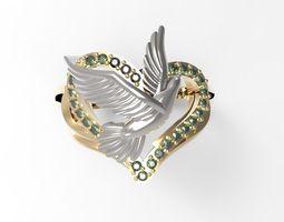 3D print model Ring Dove of peace STL