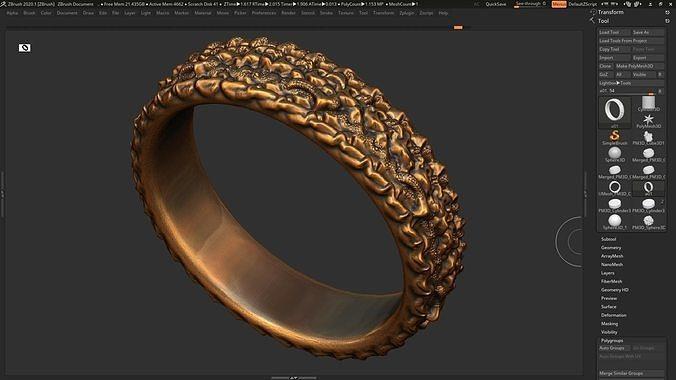 High detailed ring 3D print model 3D print model