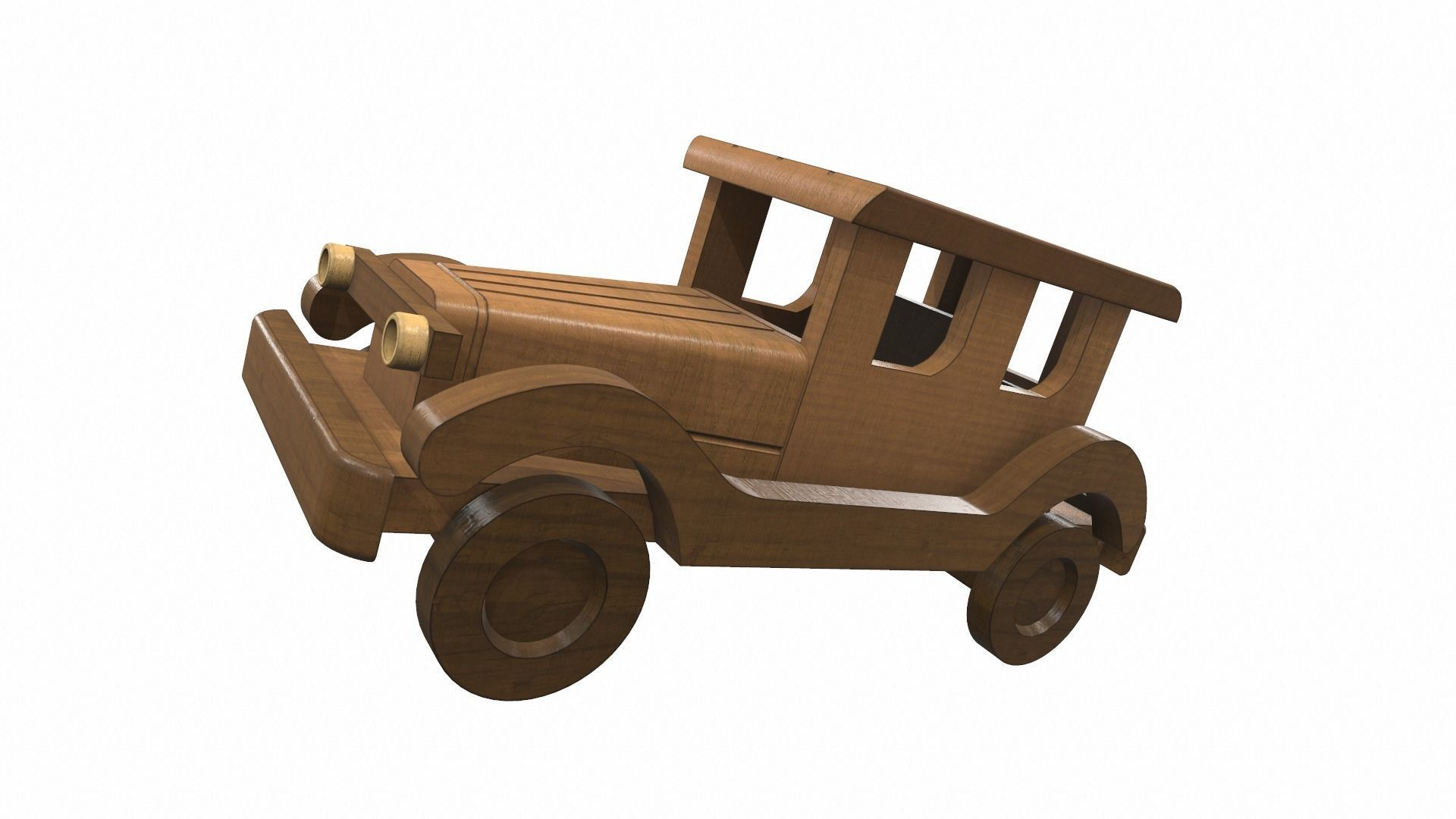 Wooden car toy retro 3
