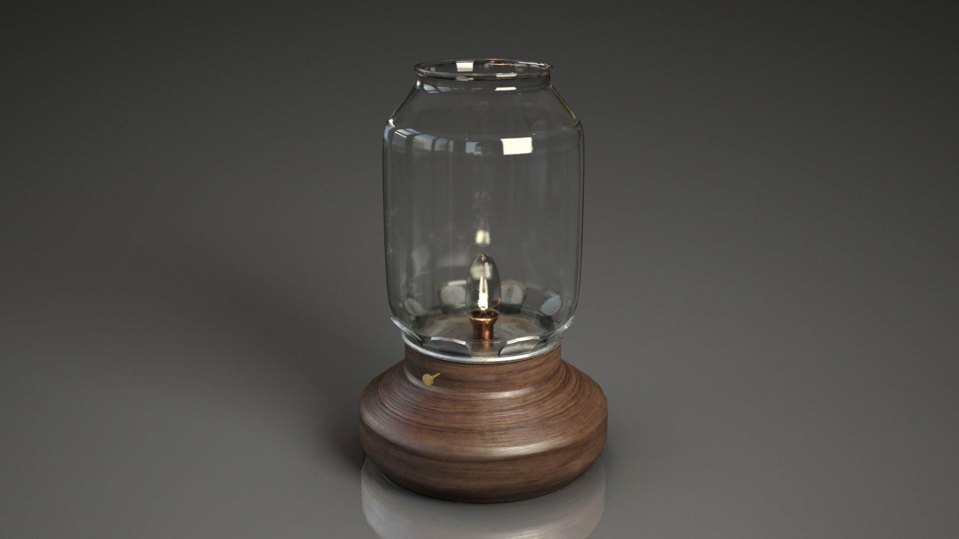 Retro vintage style lamp