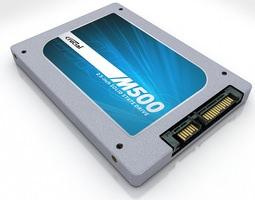 Crucial M500 3D Model