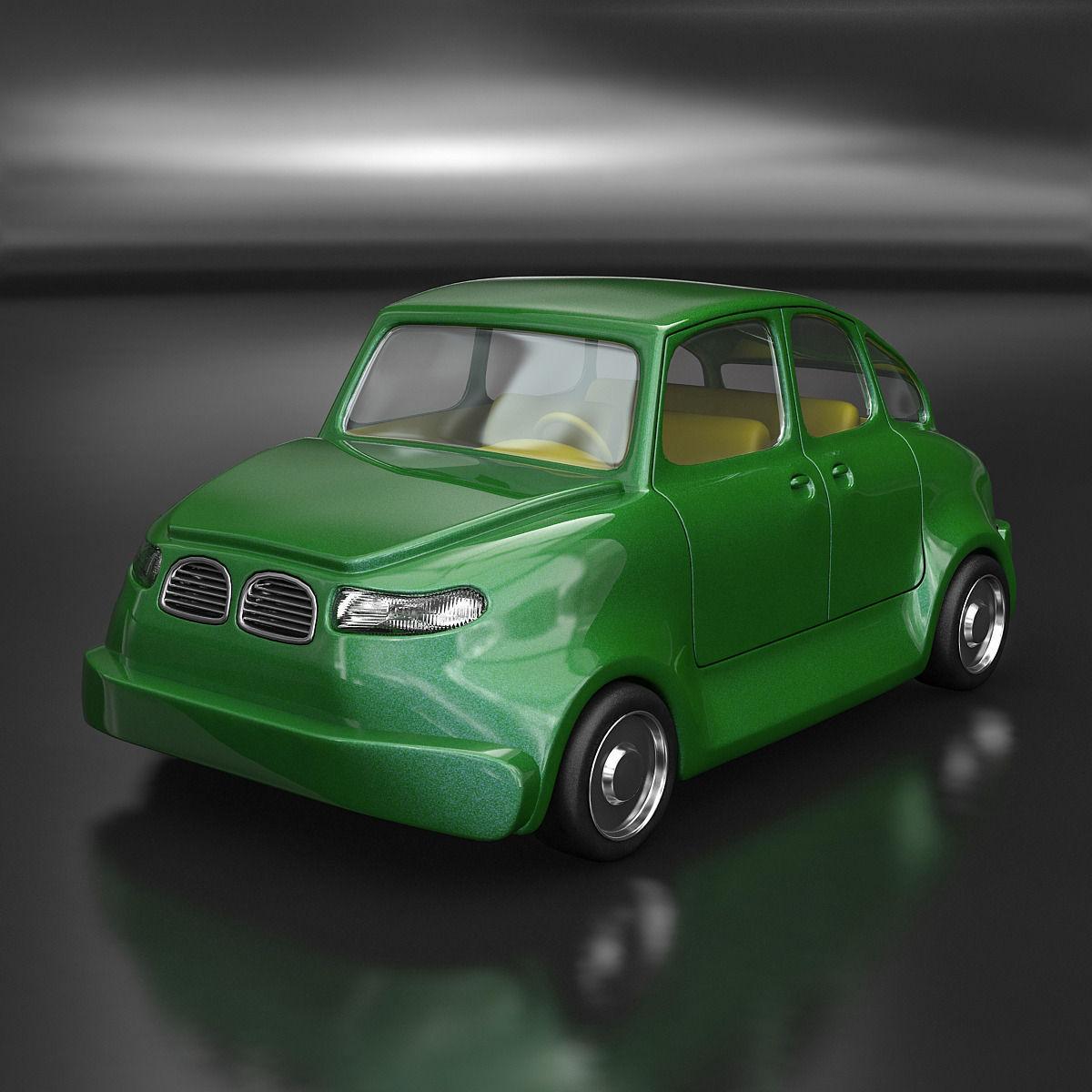 Set Of Cartoon Cars 3D Model MAX OBJ