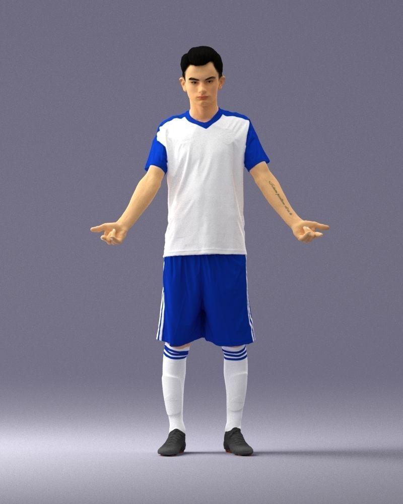 Soccer player 1114-1 3D Print Ready